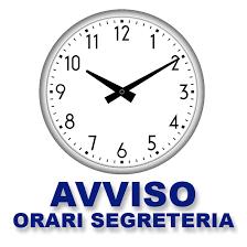 Orario Ricevimento Segreteria a.s. 2019/2020